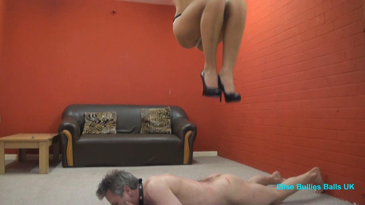 UK Mistress Elise In Scene: Trampling A Man To Tears 2 - ELISE BULLIES BALLS UK - HD/720p/MP4
