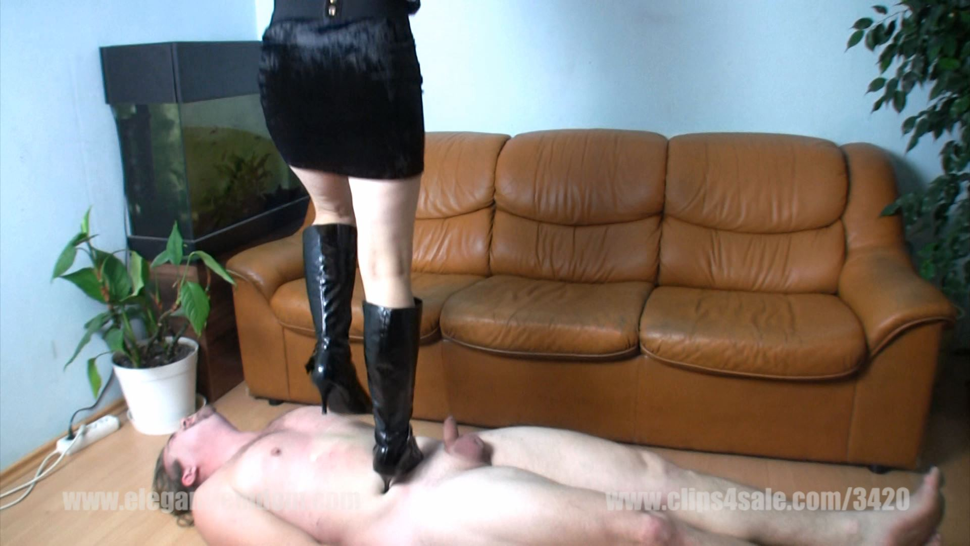 Sophie tramples this poor male slave very hard - ELEGANTFEMDOM - FULL HD/1080p/MP4