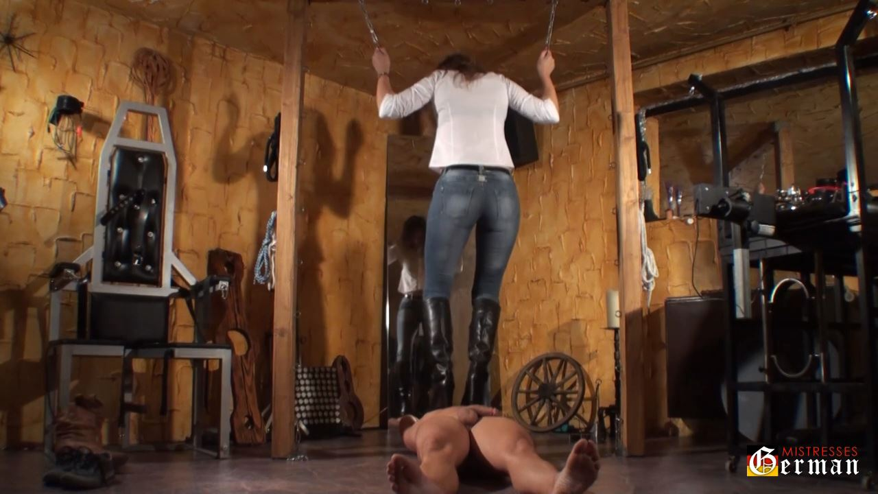 Domina Silvia In Scene: Trampling with boots - GERMANMISTRESSES - HD/720p/MP4