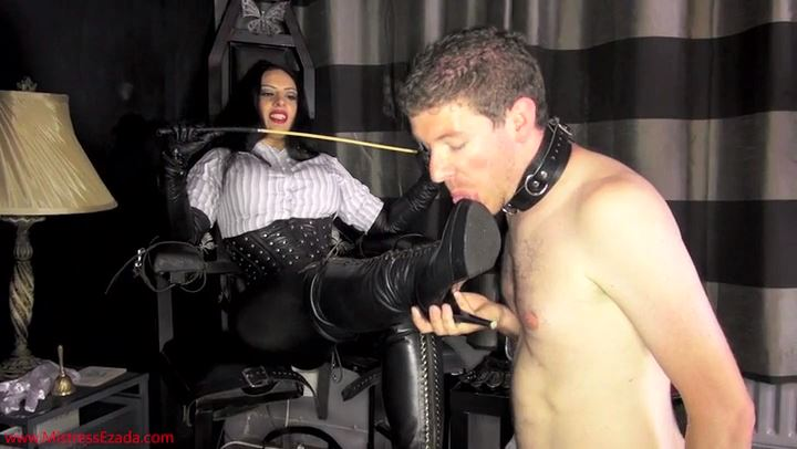 EZADA SINN In Scene: My Slaves Last Boot Worship - MISTRESS EZADA - SD/406p/MP4
