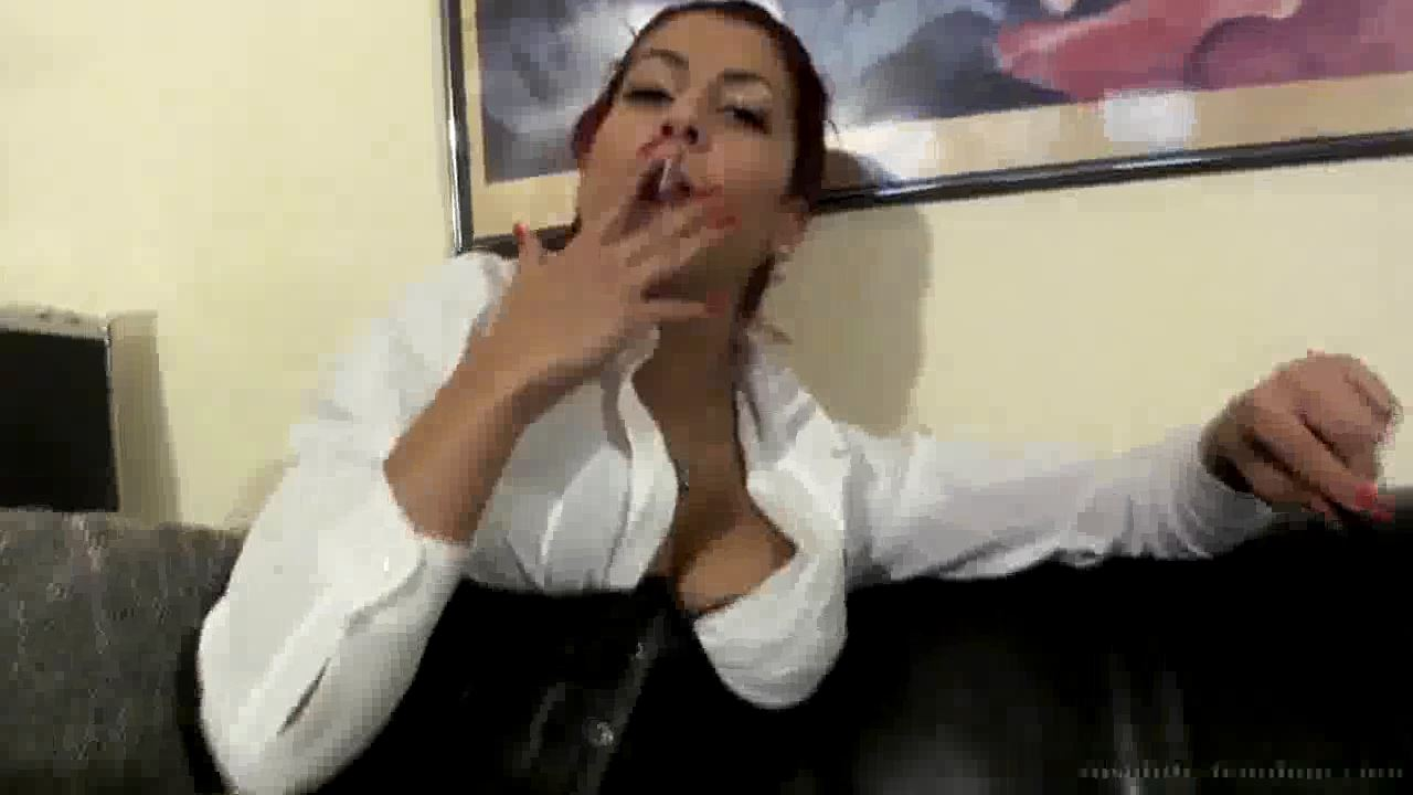 Smoking White's In Riding Pants - ABSOLUTE-FEMDOM - HD/720p/MP4