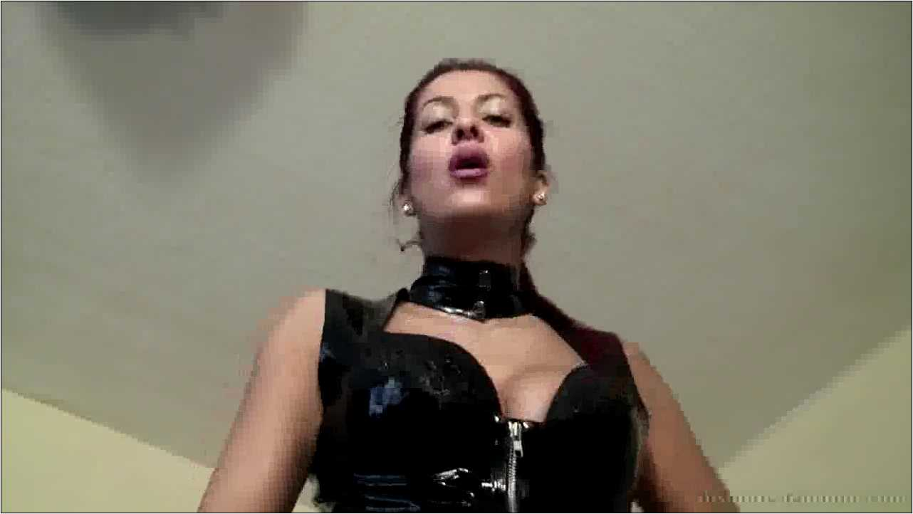 Smoke And Spit with Rubber Gloves - ABSOLUTE-FEMDOM - HD/720p/MP4