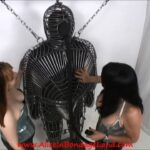 CUSTOM METAL CAGE AND CHASTITY BREATH CONTROL WITH JG LEATHERS WITH GWEN FREESTORM – ALICEINBONDAGELAND – SD/480p/MP4