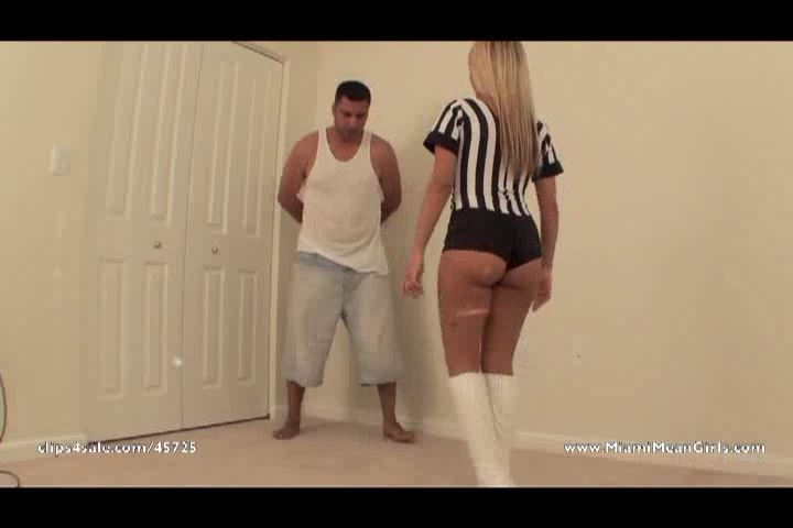 Goddess No In Scene: Ballbusting Referee - AMERICAN MEAN GIRLS / MIAMI MEAN GIRLS - SD/480p/MP4