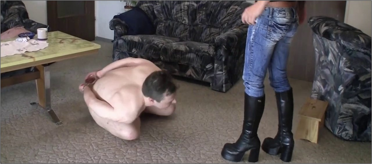 Sadistic girlfriend cruel punishments of her slave's cock and balls - BRUTAL CBT - SD/564p/MP4