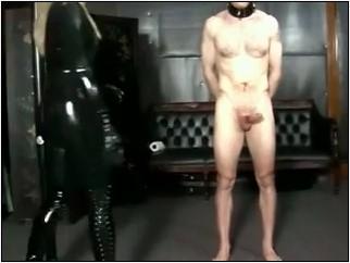 Sadistic domestic Goddess kicks her slave's balls repeatedly - BRUTAL CBT - LQ/240p/MP4