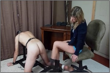 Two Mistresses insert their fingers in their slave's urethra - BRUTAL CBT - LQ/240p/MP4