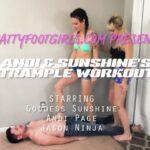 Andi Page, Sunshine In Scene: Andi & Sunshine's Trampling & facestanding fun – BRATTY FOOT GIRLS – HD/720p/MP4