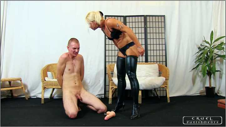 Lady Zita In Scene: Young slave's humilation Part 1 - CRUEL PUNISHMENTS - SEVERE FEMDOM - SD/404p/MP4
