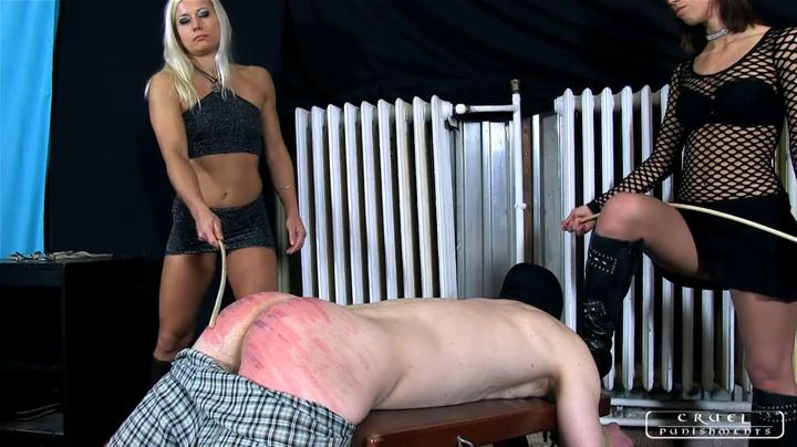 Lady Zita, Lady Nina In Scene: Double caning and a little game Part 1 - CRUEL PUNISHMENTS - SEVERE FEMDOM - SD/404p/MP4