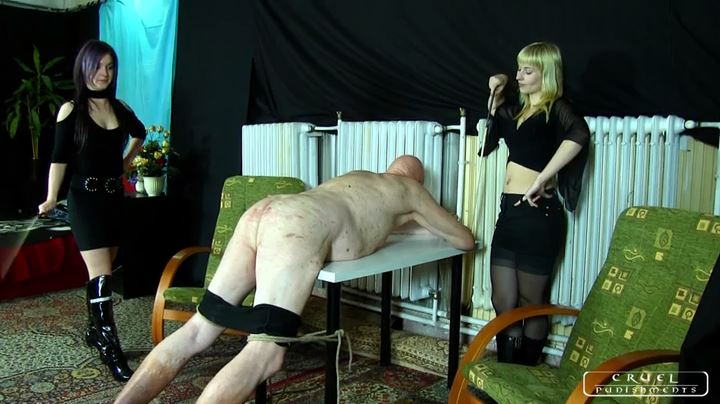 Mistress Margo, Mistress Suzy In Scene: The swabber slave Part 2 - CRUEL PUNISHMENTS - SEVERE FEMDOM - SD/404p/MP4
