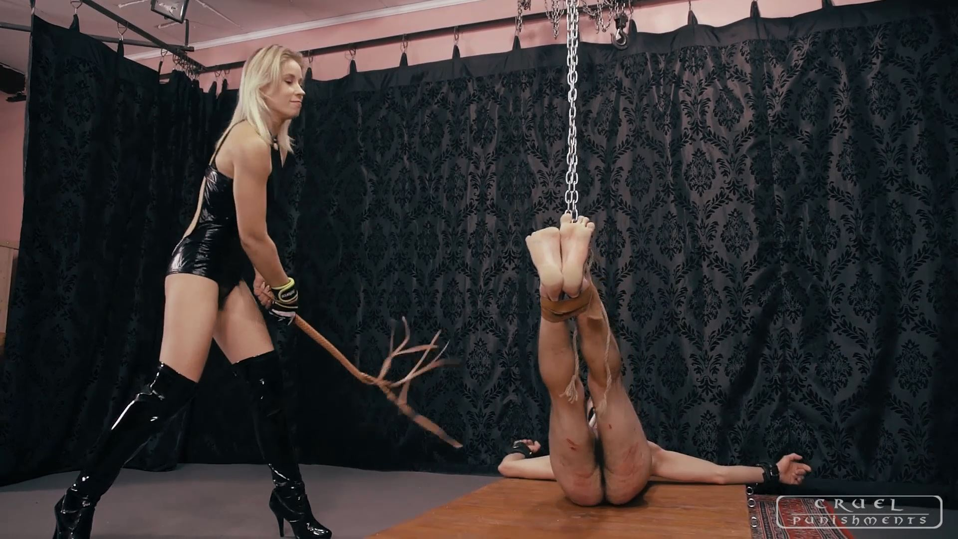 Mistress Anette In Scene: Anette and the muffled slave Part 3 - CRUEL PUNISHMENTS - SEVERE FEMDOM - FULL HD/1080p/MP4