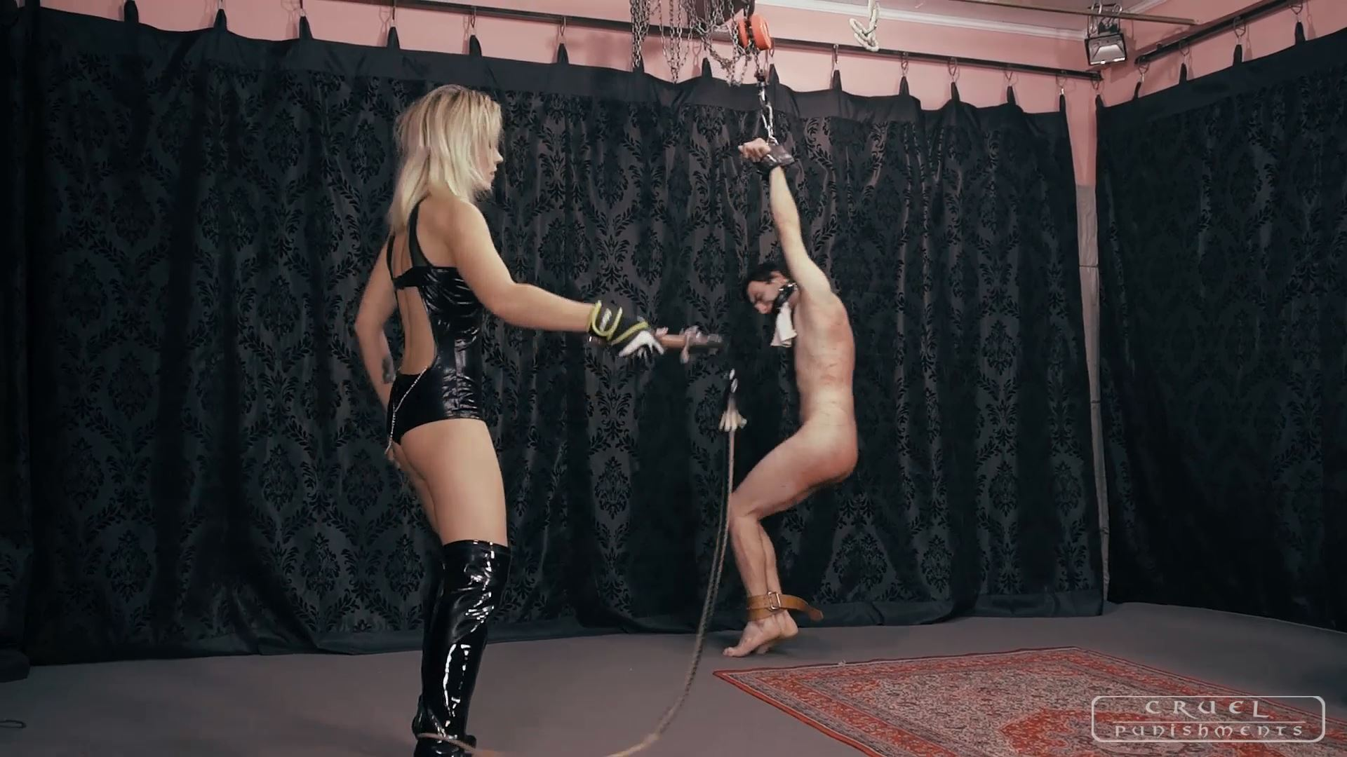 Mistress Anette In Scene: Anette and the muffled slave Part 2 - CRUEL PUNISHMENTS - SEVERE FEMDOM - FULL HD/1080p/MP4