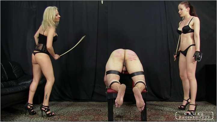 Lady Anette, Lady Gwen In Scene: Cruel girls humilate the slave Part 1 - CRUEL PUNISHMENTS - SEVERE FEMDOM - SD/406p/MP4