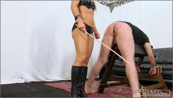 Lady Zita In Scene: Zita's hard cane - CRUEL PUNISHMENTS - SEVERE FEMDOM - SD/406p/MP4