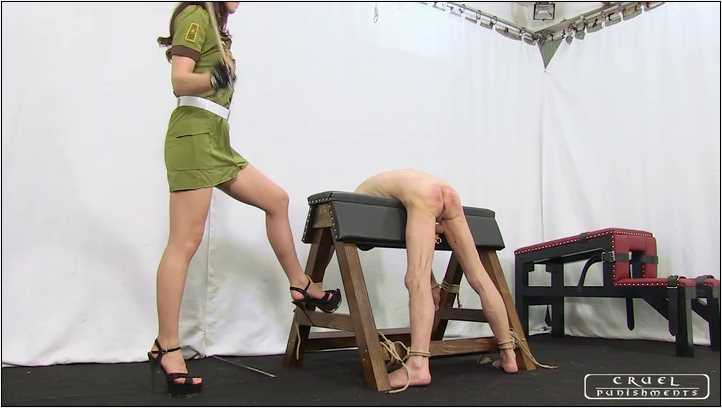 Lady Anette In Scene: Extreme painful military punishment Part 1 - CRUEL PUNISHMENTS - SEVERE FEMDOM - SD/406p/MP4