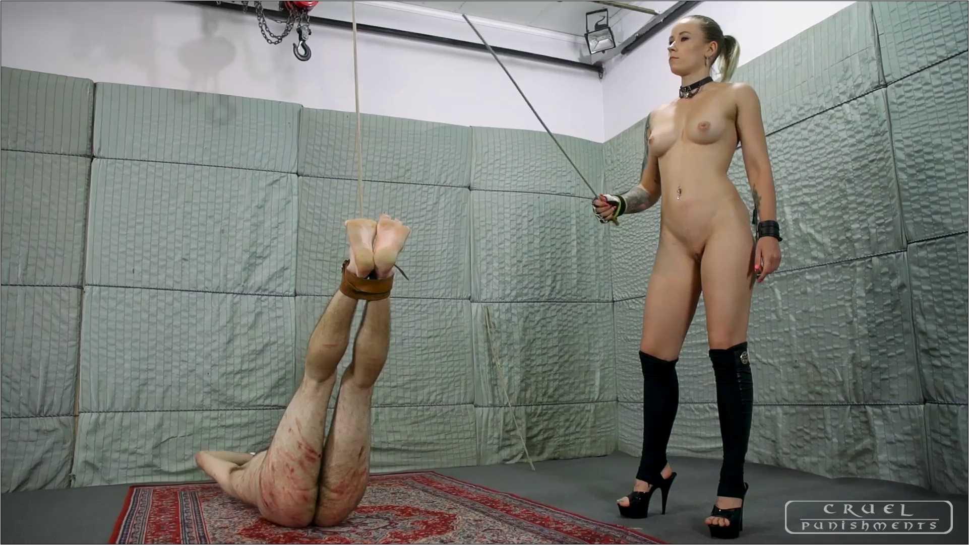 Mistress Anette In Scene: Cruel naked mistress Part 3 - CRUEL PUNISHMENTS - SEVERE FEMDOM - FULL HD/1080p/MP4