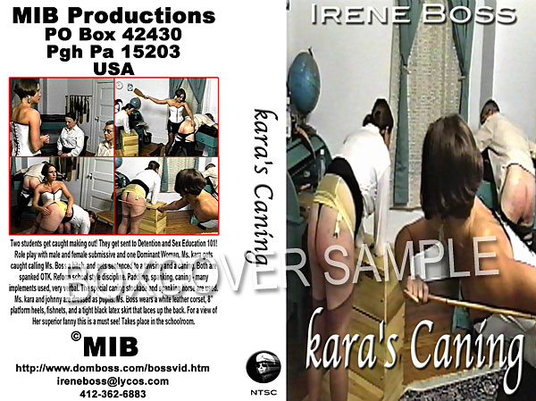 Domina Irene Boss In Scene: Kara's Caning - DOMBOSS / MIB PRODUCTIONS - SD/480p/MP4