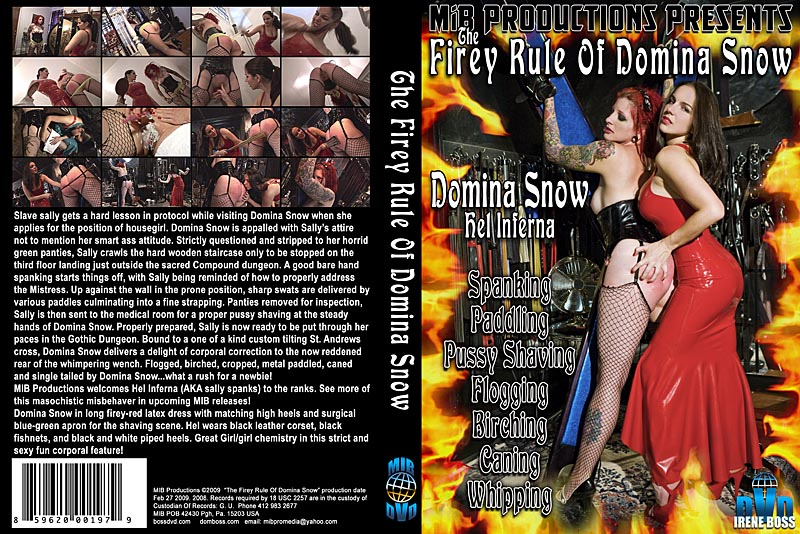 Domina Snow In Scene: The Firey Rule of Domina Snow - DOMBOSS / MIB PRODUCTIONS - HD/720p/MP4