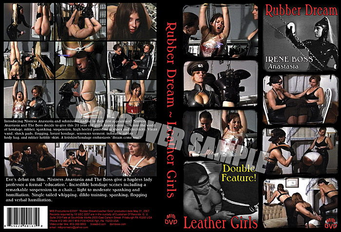 Mistress Anastasia, Domina Irene Boss In Scene: Leather Girls - DOMBOSS / MIB PRODUCTIONS - SD/480p/MP4