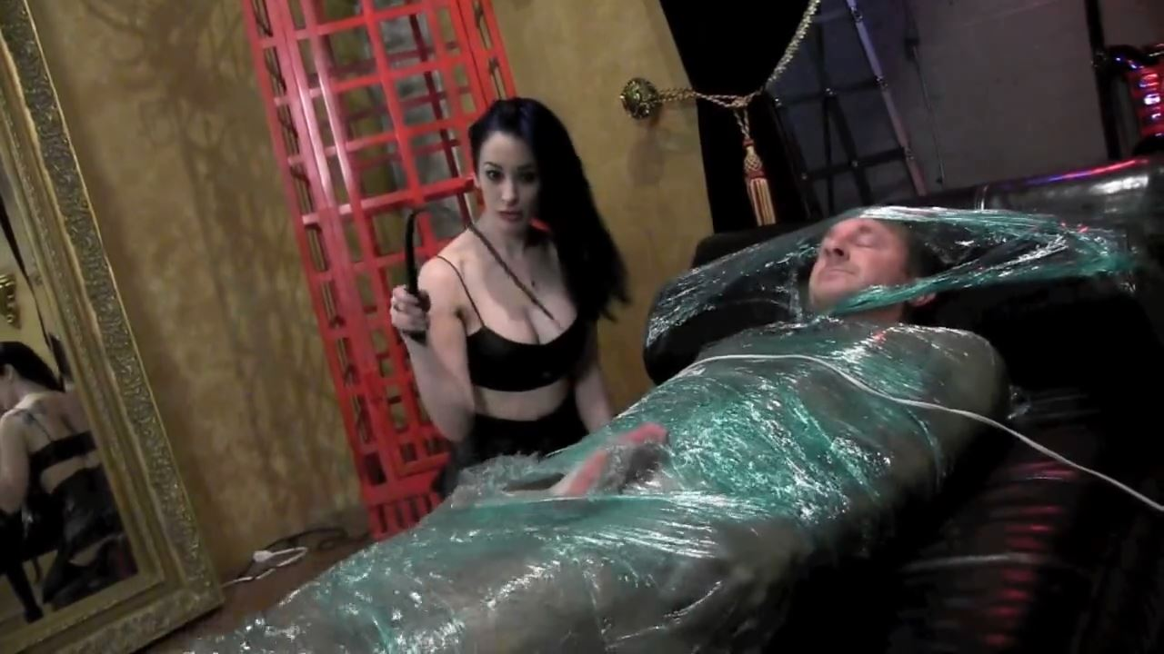 Mistress January Seraph In Scene: COCOONED FOR TESTICLE TORMENT PART 4 - DOMNATION - HD/720p/MP4