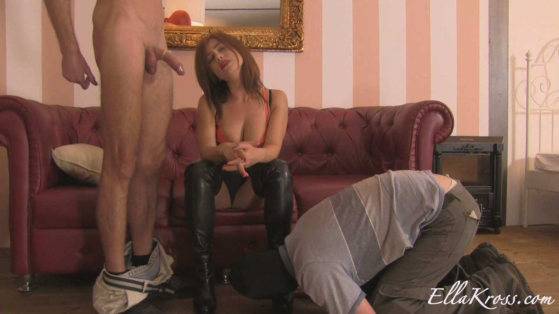 Mistress Ella Kross In Scene: Making a Potential Slave Suck Cock - ELLAKROSS - FULL HD/1080p/MP4