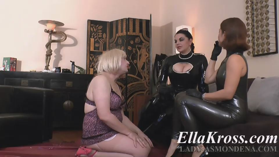 Mistress Ella Kross In Scene: Making a Sissy Slut Dance and Suck Cock with Lady Asmondena - ELLAKROSS - SD/540p/MP4