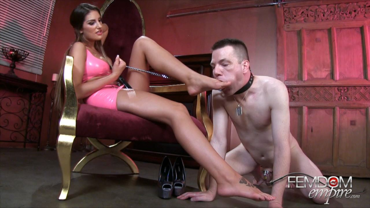 August Ames In Scene: Owned By My Feet - FEMDOMEMPIRE - HD/720p/MP4