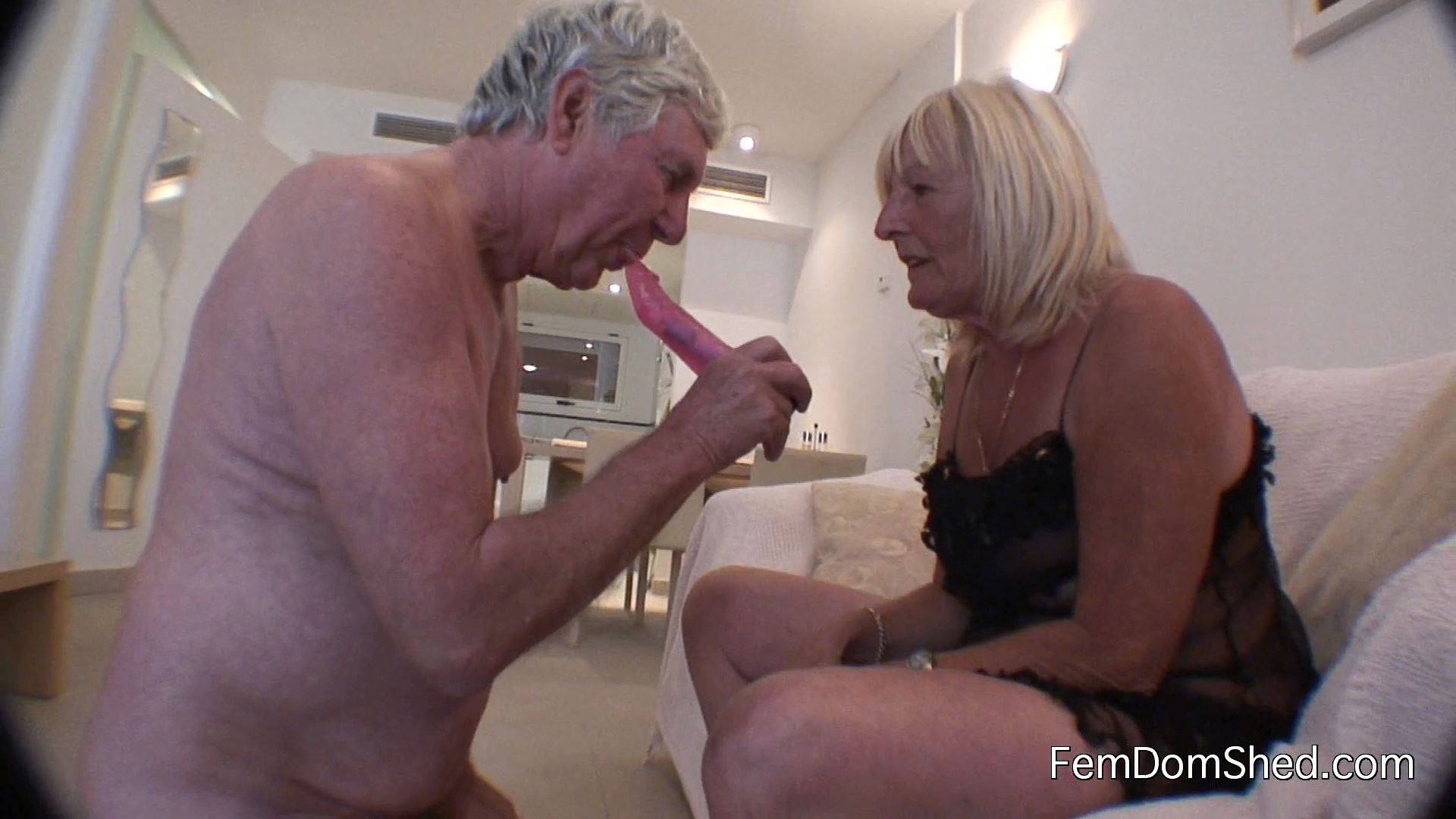 Cuckoldress Diane - Training My Cuckold Husband To Suck My New Lovers Cock - FEMDOMSHED - FULL HD/1080p/MP4