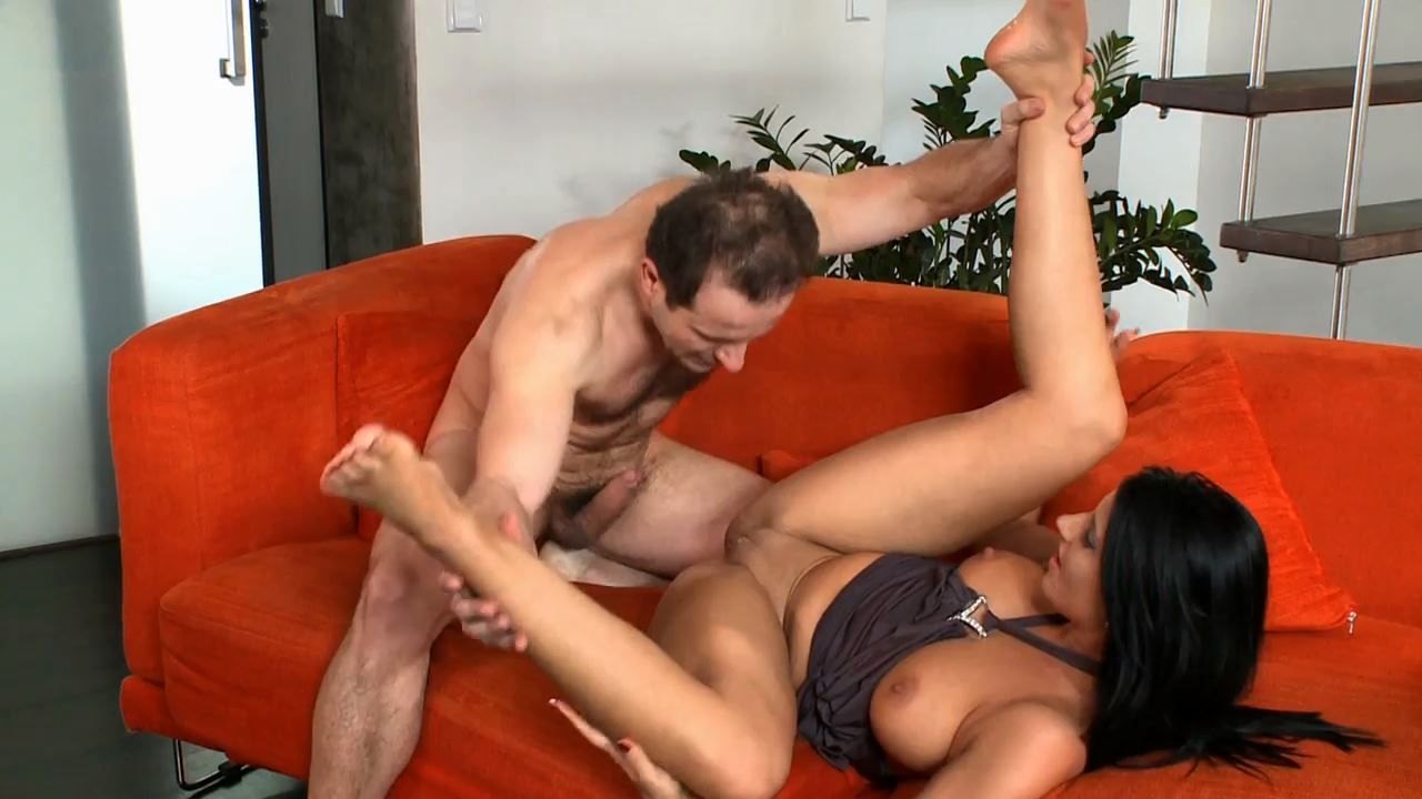 Hot brunette plays with a foot fetish guy making his cock rock hard - FOOT DIVAS - HD/720p/MP4