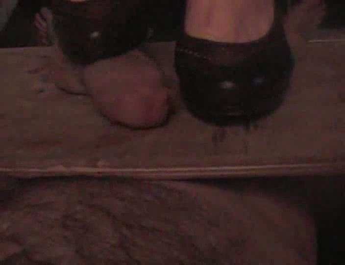 Goddess Cruel Carmz In Scene: Trampled and stabbed by the Goddess heels Scene 3 - CRUEL COCK AND BALL CRUSHING - SD/540p/MP4