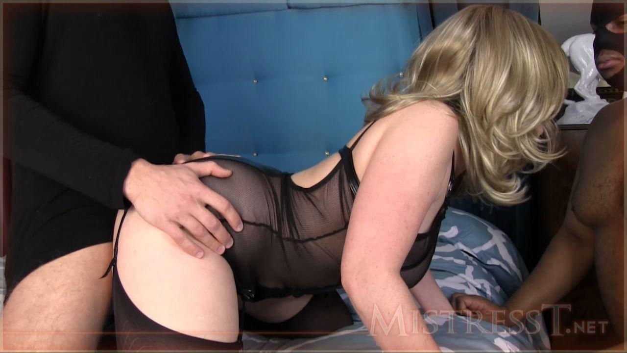 Mistress T In Scene: Black Cuckold Sucks White Dick - MISTRESST - HD/720p/MP4