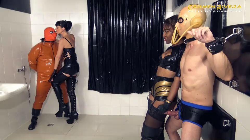 Lady Sahara, Carmen Rivera In Scene: Sperm Robbery in the Rubber Chamber Part 6 - YOURMISTRESS / CARMEN RIVERA ENTERTAINMENT - SD/540p/MP4