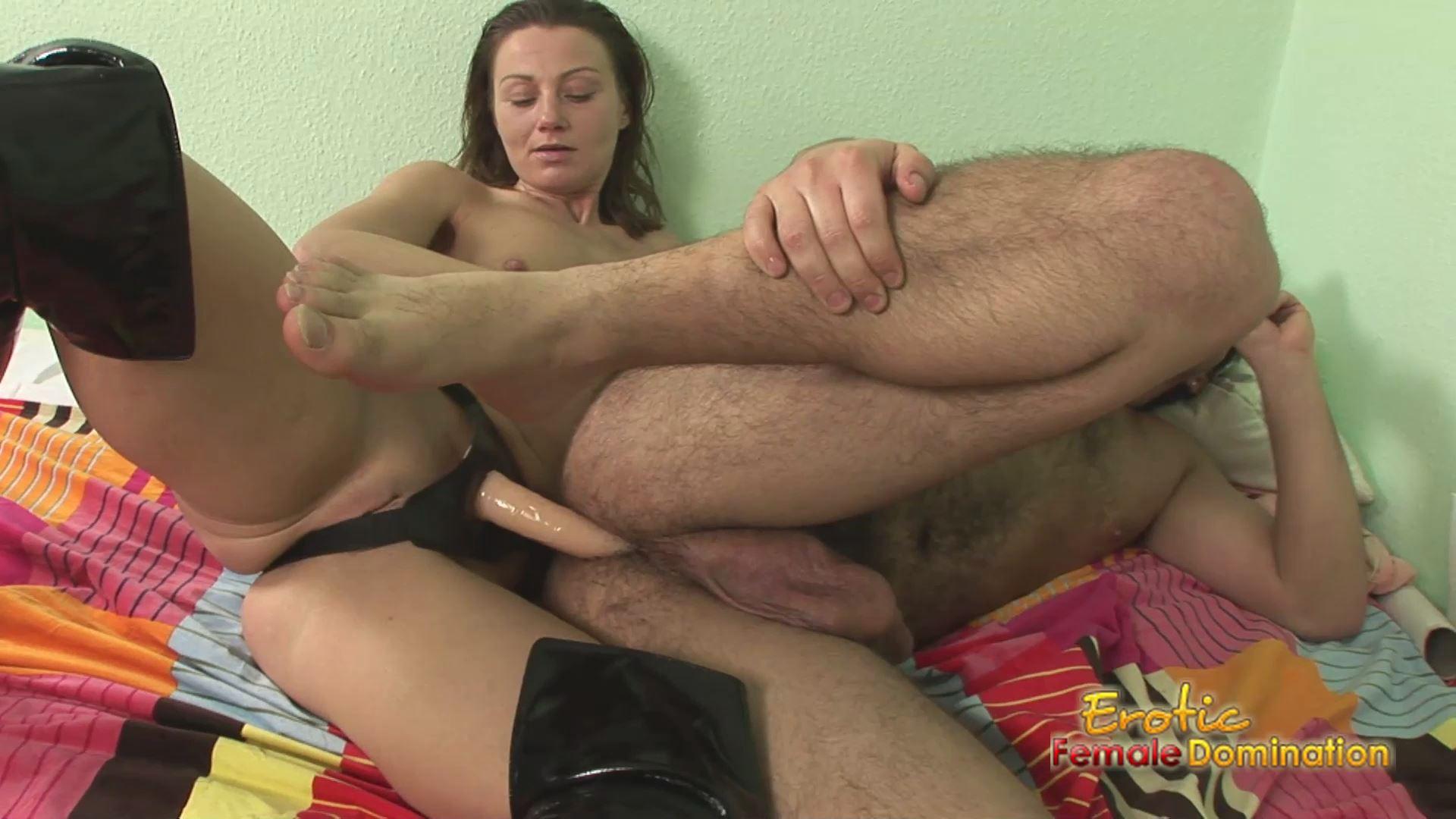 Sexy Dominatrix Pegs Her Slave's Asshole - EROTIC FEMALE DOMINATION - FULL HD/1080p/MP4