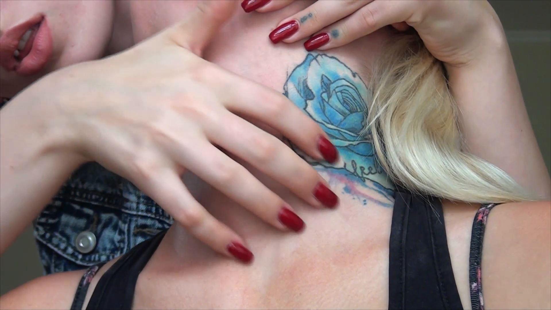 Massage neck and Adam's Apple - FEMALES THROAT FETISH - FULL HD/1080p/MP4