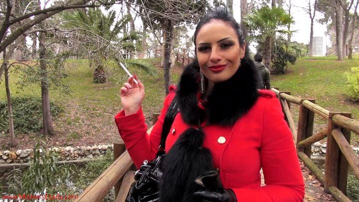 Human ashtray for a beautiful stranger - MISTRESS EZADA SINN - SD/406p/MP4