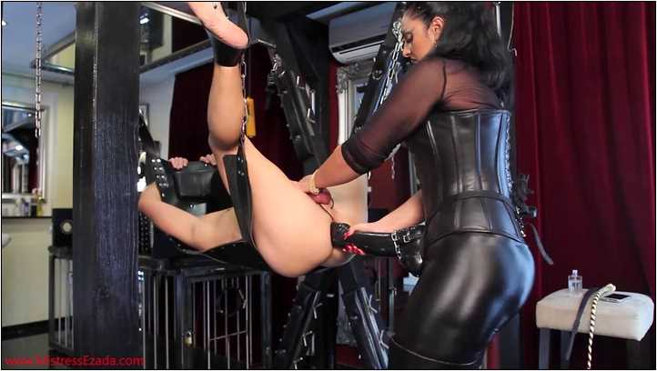 Mistress Ezada In Scene: Extreme pegging and milking on the sling - MISTRESS EZADA SINN - SD/406p/MP4