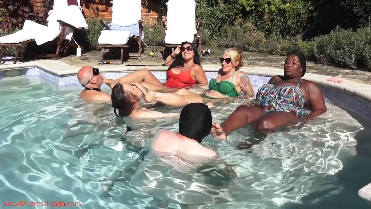 Ezada Sinn, Madame Caramel, Ava Von Medisin In Scene: Aquatic Foot Services - MISTRESS EZADA SINN - HD/720p/MP4