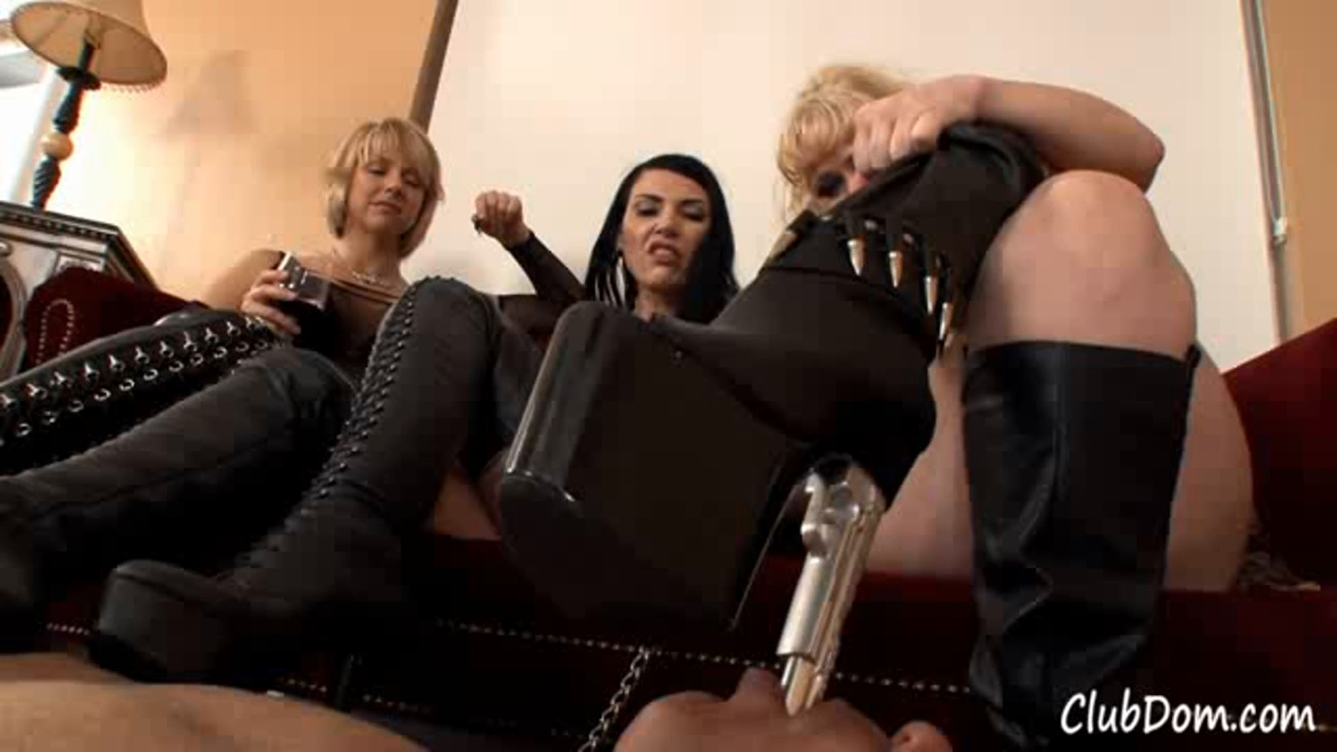 Goddess Brianna, Simone Kross In Scene: Boot Cleaning Games - CLUBDOM / RUTHLESSVIXEN - FULL HD/1080p/MP4
