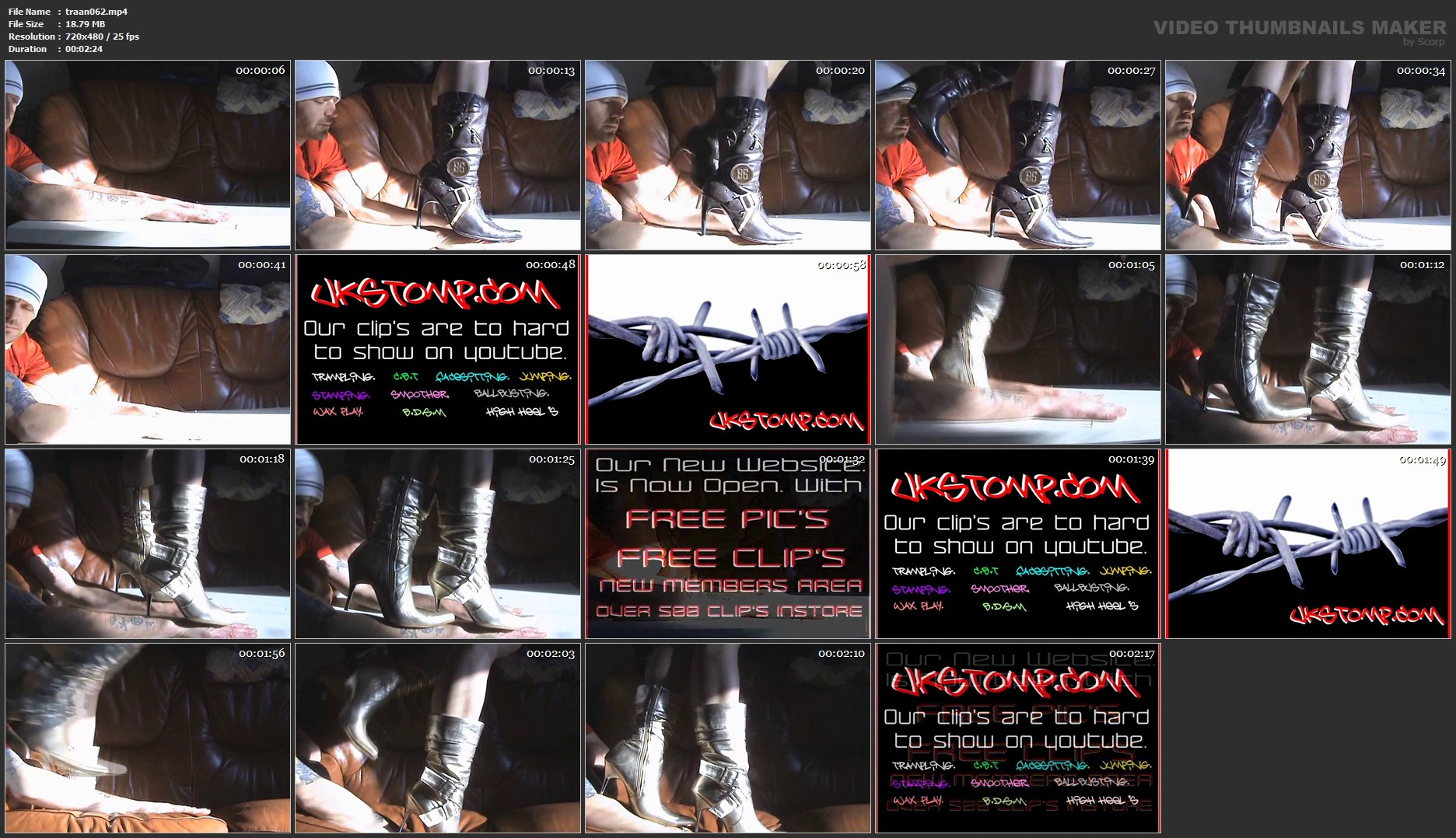 3 SHORT BANNED YOUTUBE ADDS (NOT HERD BUT STILL BANNED) - UK STOMP / TRAMPLE ANGEL - SD/480p/MP4