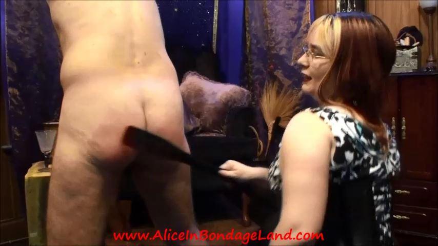 Slave Roller Part 2 Spanking CBT Flogging - ALICEINBONDAGELAND - SD/480p/MP4