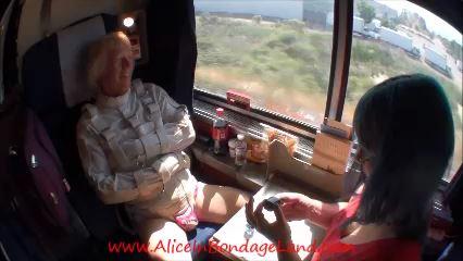 Cross Country Train Trip Part 1 - ALICEINBONDAGELAND - LQ/240p/MP4