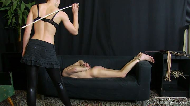 Lady Anette In Scene: Painful seance Part 2 - CRUEL PUNISHMENTS - SEVERE FEMDOM - SD/404p/MP4