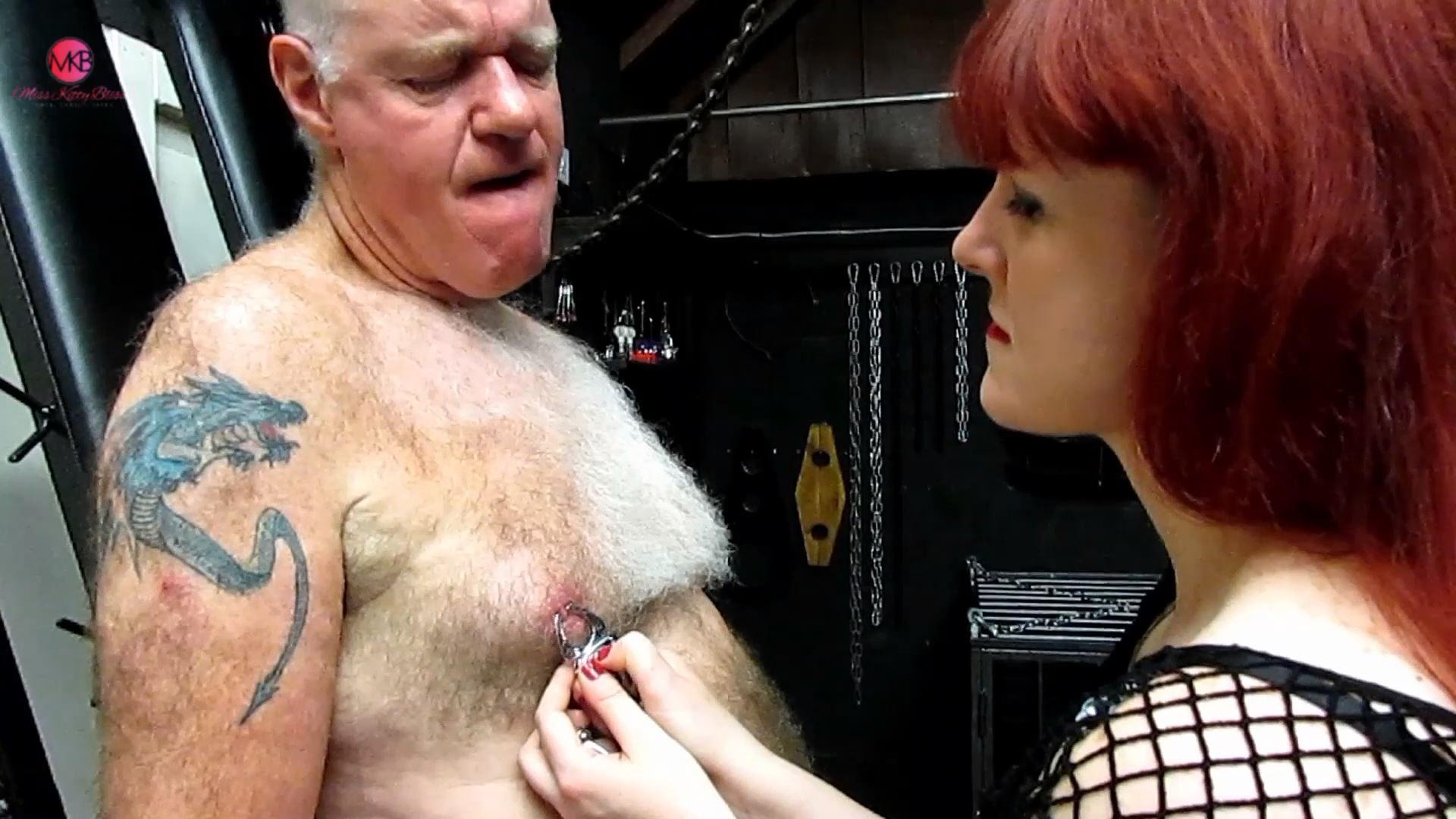 Clamped Nipples & Balls - MISS KITTY BLISS - FULL HD/1080p/MP4