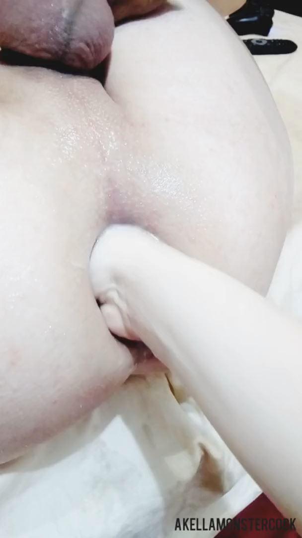 Teen Femdom Wife Gentle Fisting Husband Hole - Anal Gape POV - AKELLA MONSTER COCK - FULL HD/1080p/MP4
