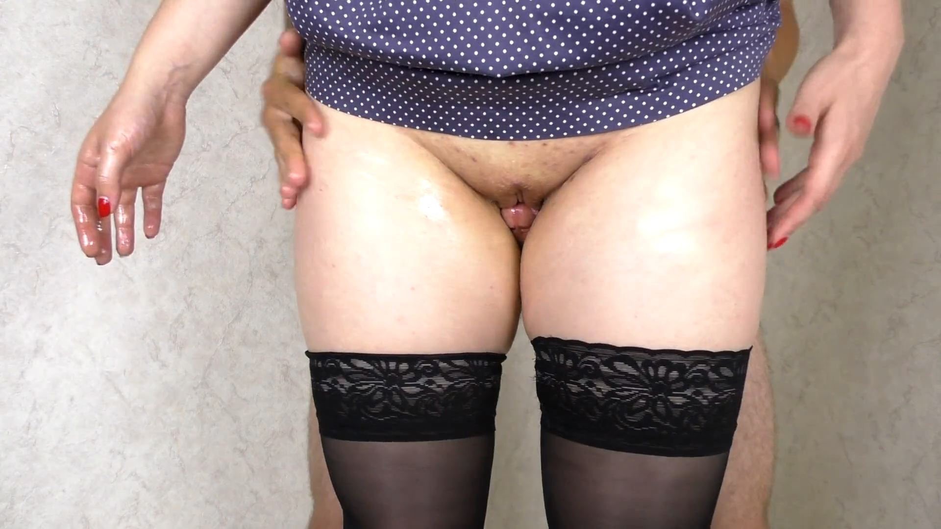Step Sister Assjob Pussyjob And Cum On My Legs In Stockings