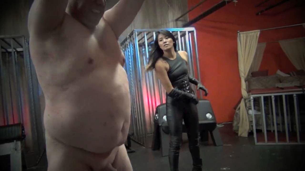 Goddess Angelina In Scene: SEDUCTIVE LEATHER AND SADISTIC BULLWHIPS - ASIAN CRUELTY - HD/720p/MP4