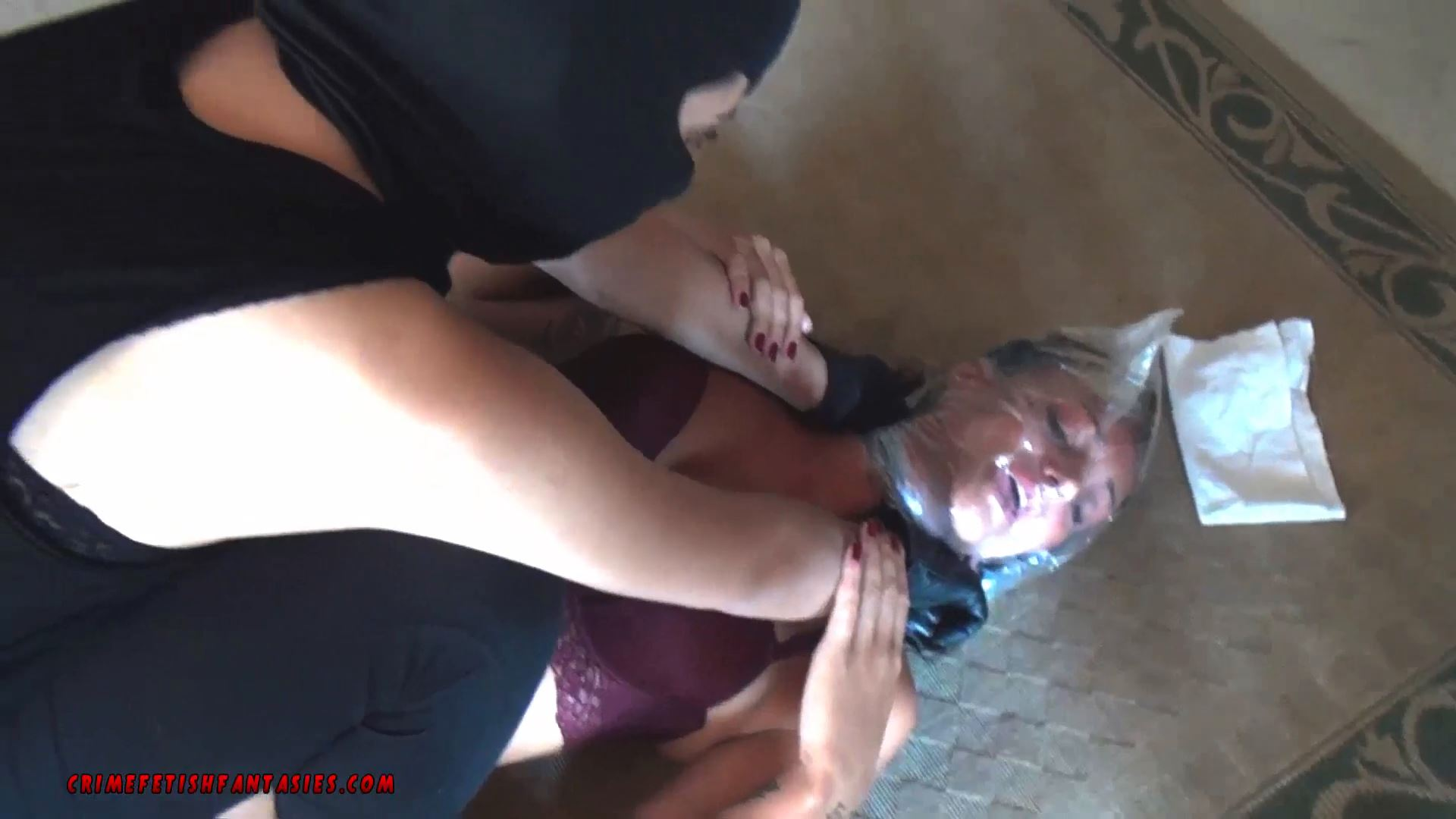 EVA BAGGED BY MASKED WOMAN - CRIMEFETISHFANTASIES - BAGGING BONDAGE - FULL HD/1080p/MP4