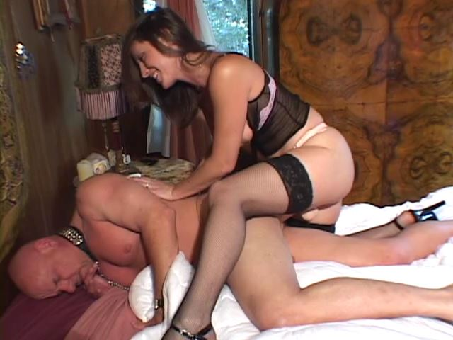 Now he's ready to be fucked by her strapon like the sissy he is - STRAPON SLAVES - SD/480p/MP4