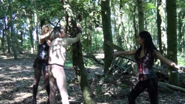 Outdoors Whipping by Mistress nina & Lady Natalie Black - ASIAN MISTRESS NINA - LQ/360p/MP4